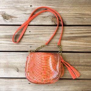 Gianni Bini orange vegan leather mini purse